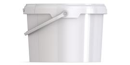 Ведро пластиковое круглое с крышкой JET 30