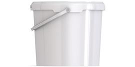 Ведро пластиковое круглое с крышкой JET 56