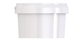 Ведро пластиковое с крышкой JETB 280